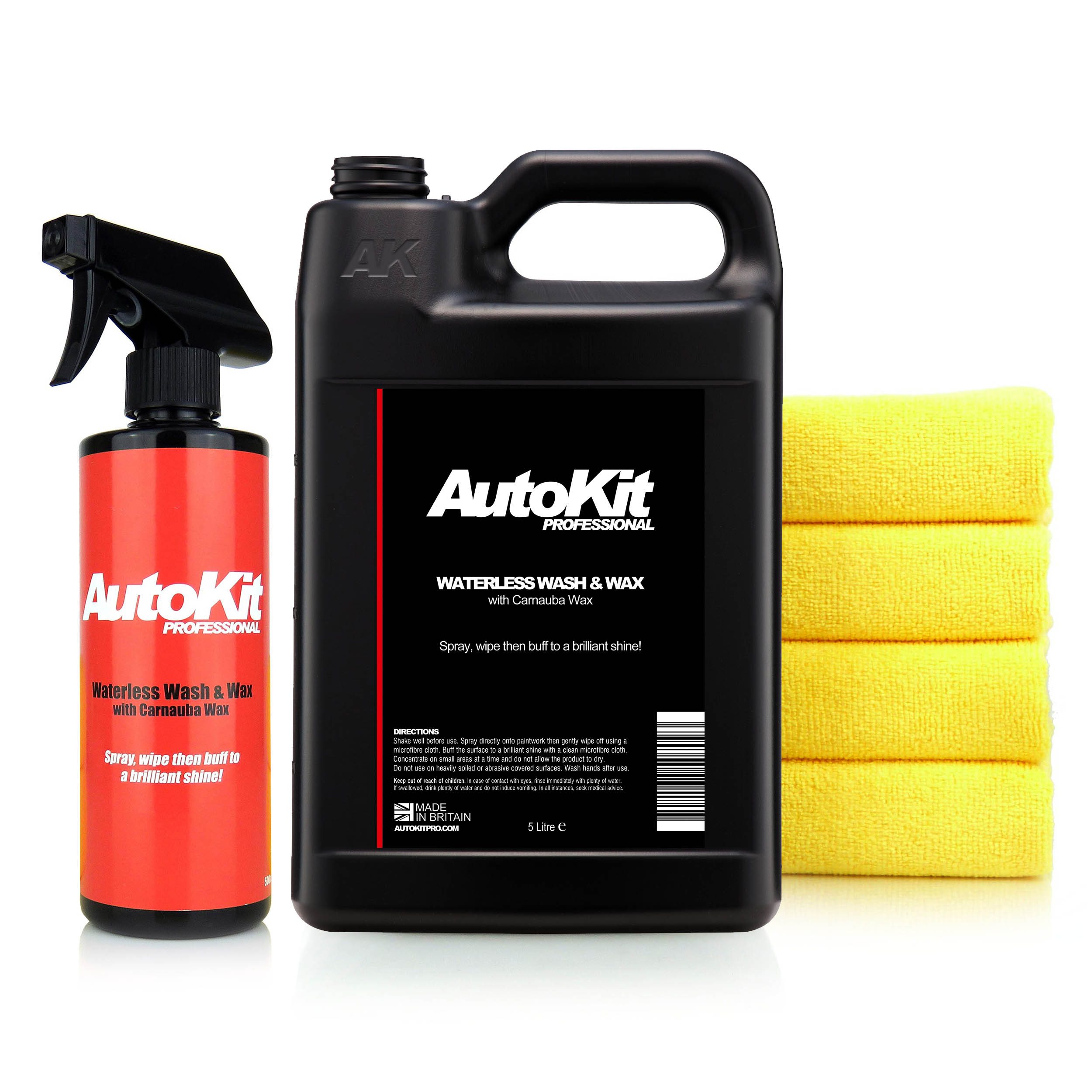 AutoKit Waterless Wash and Wax - 5.5L Kit